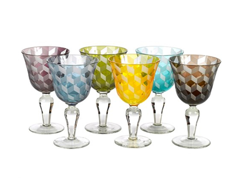 wine glass cuttings multicolour la qualite. Black Bedroom Furniture Sets. Home Design Ideas