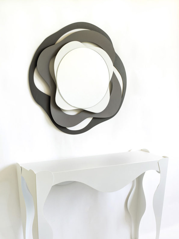 Specchio da parete moderno multicolor la qualite for Specchio design moderno da parete